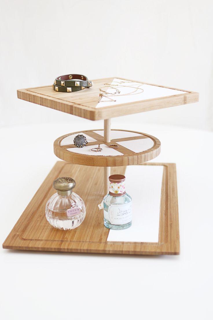 DIY: modern scandinavian 3-tier wooden stand