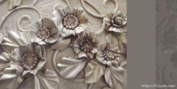 Декор стен лепкой из декоративной штукатурки