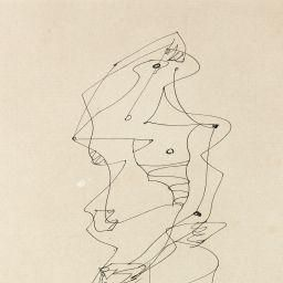 Création de André Masson, Personnage (Dessin Automatique), fait de l'encre de Chine sur papier