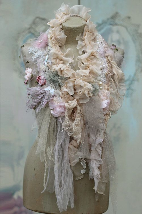 Invierno romántico scarflette collar o boa shabby por FleursBoheme