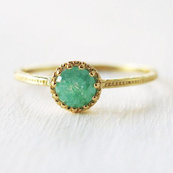 aqua blue ring, gold ring, band ring, sparkly ring, druzy ring, bridesmaid gift, stacking rings, green gold ring