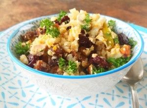Moroccan Cauliflower 'Cous Cous' Salad - Quirky Cooking