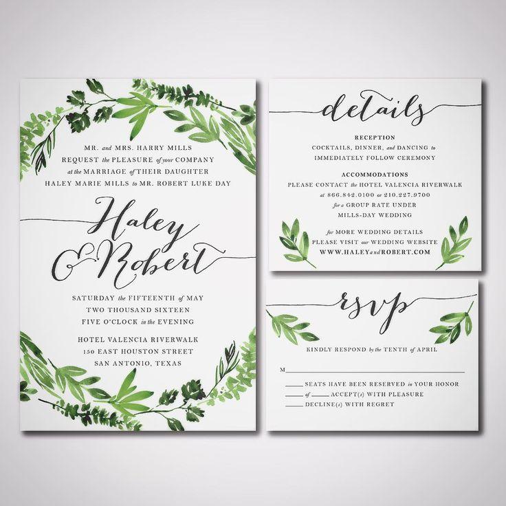 20 best printableweddinginvitations images on Pinterest Free - best of invitation card example
