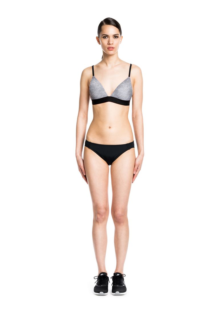Amber Top - Grey Heather TRIANGLE BIKINI TOP