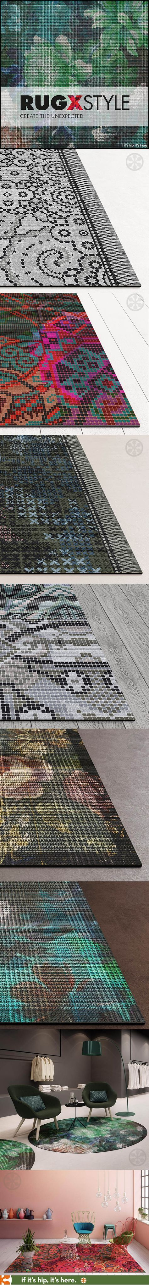 New round and rectangular durable, industrial area rugs for commercial or residential use with great style.