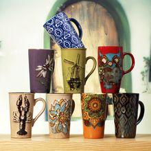 R Free Shipping Retro Hand-painted Nespresso Ceramic Cups Large Enamel Milk Mug Coffee Cup(China (Mainland))