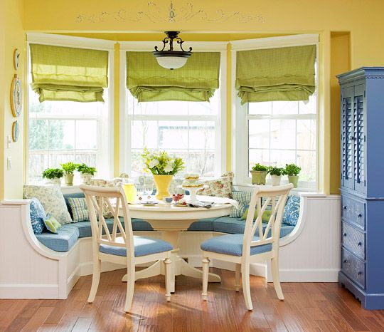 Liz For Your Kitchen Bay Windows Banquette Seating