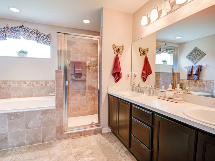 Model home pictures bathroom tile.