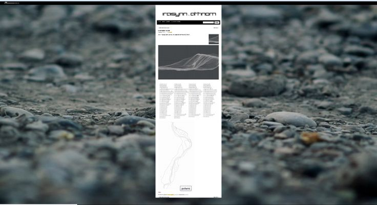 2011 – topographic survey and digital terrain model of a river