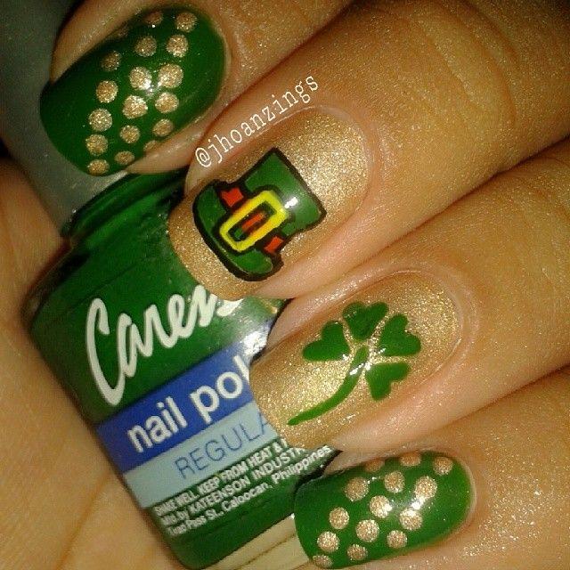 Excelente St Patricks Día 5 Uñas Colección - Ideas Para Esmaltes ...