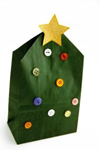 Christmas bags- cute for wrapping preschool gifts. Enjoyed by www.mygrowingtraditions.com