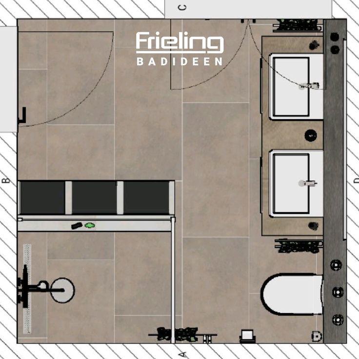 Das Moderne Bad Mit Sitzbank Grundriss Badezimmer Grundrisse Planungen Modernes Badezimmer Modernes Badezimmer Dusche Modernes Badezimmer Fliesen