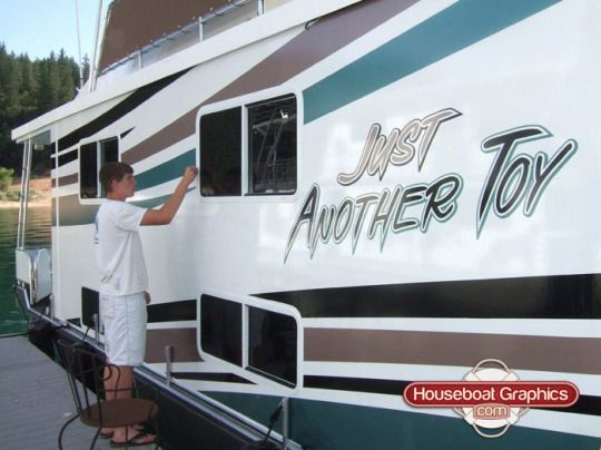 Best Striping Decals For Your Boat Or Houseboat Images On - Houseboats vinyl names
