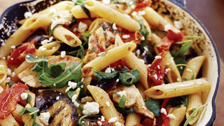 Tomato & eggplant pasta