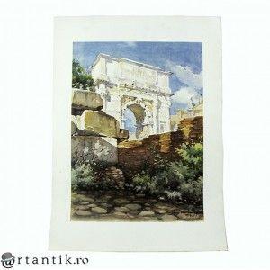litografie de autor - Arco di Tito - Angelo Marinucci
