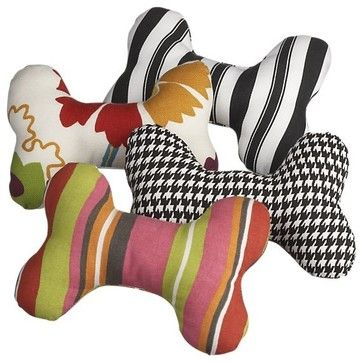 Set of 4 Dog Bone Toys – Set of Four - eclectic - pet accessories - Crate