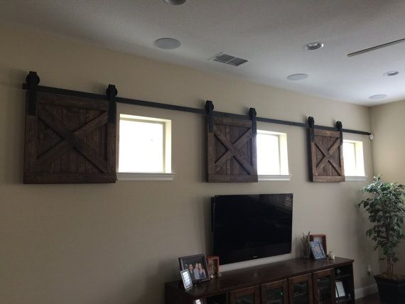 RUSTIC Wood Window Shutters Baby Pet Dog GATE Barn Door