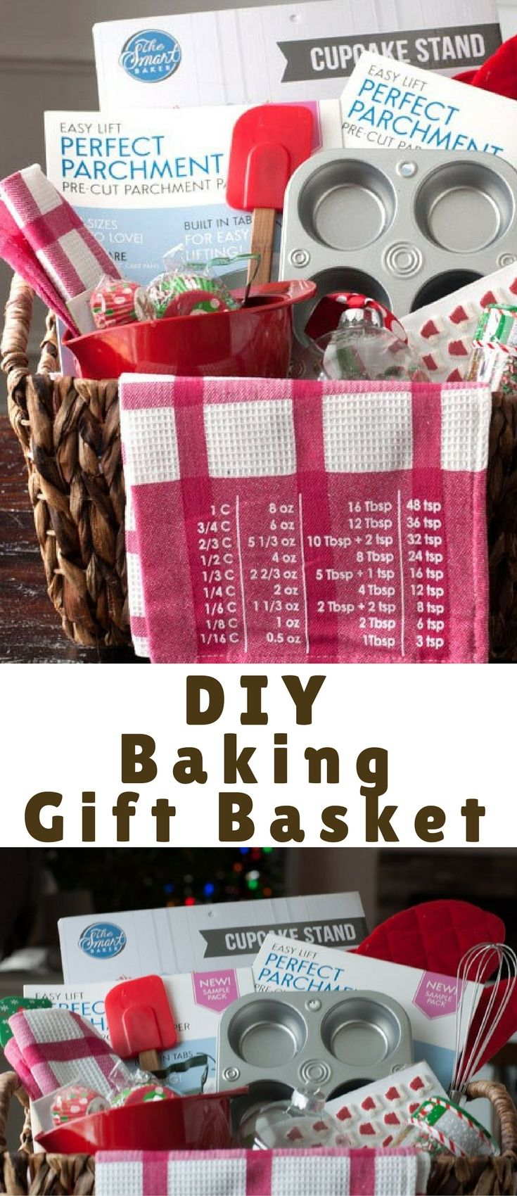 Making a DIY Baking Gift Basket is easy and fun. A great gift for friends who love baking and being in the kitchen.