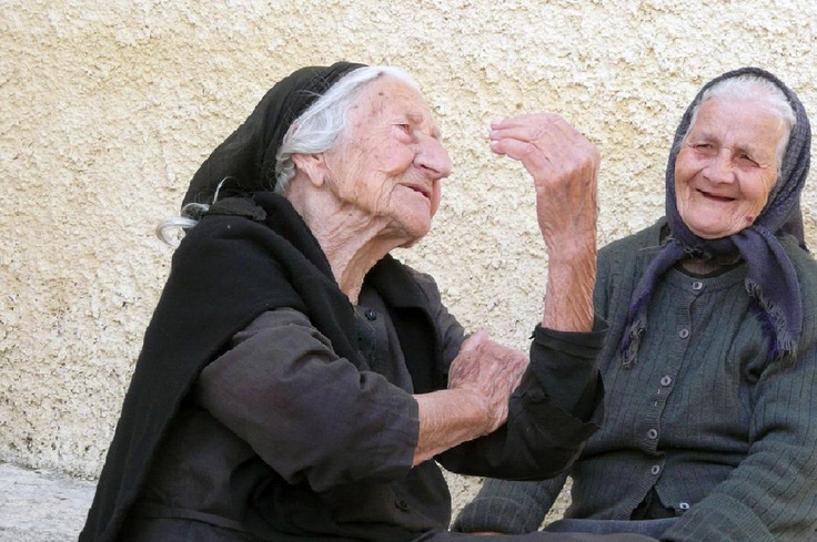 Yiayia chat...so very lovely, Greece