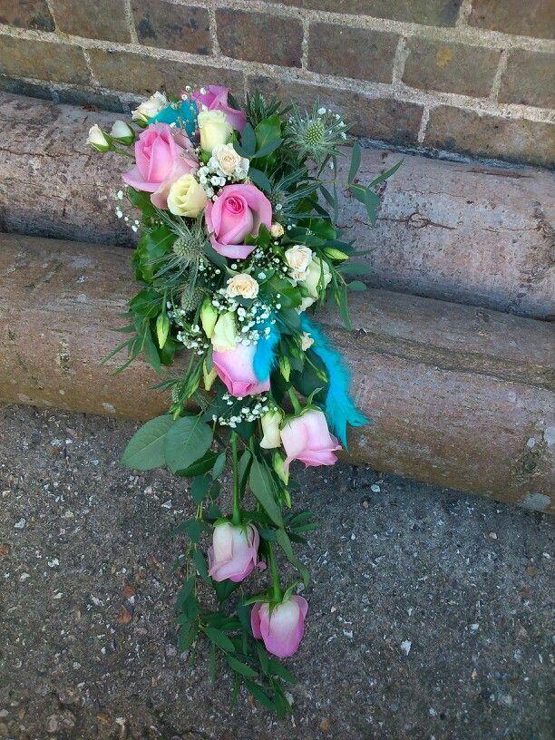 Semi wired shower bouquet