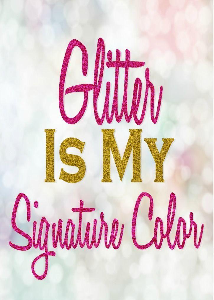 Glitter is my favorite
