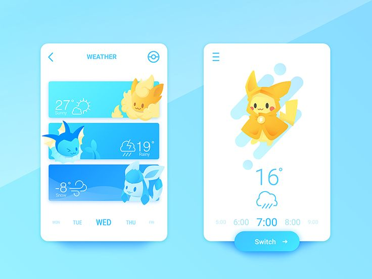 Some association between Pokemons and Interfaces.  Hope you like it bros! Press