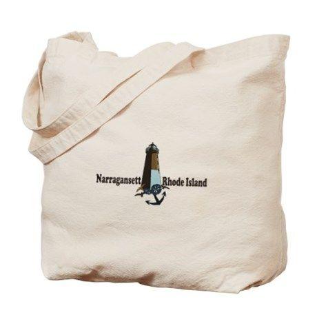Narragansett RI – Leuchtturm-Entwurfs-Einkaufstasche von AmericaRoadside