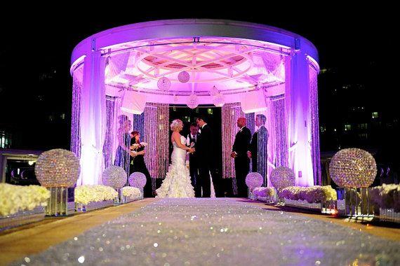 SEQUIN Aisle Runner 40Wide X CHOOSE Your LENGTH Vintage Wedding