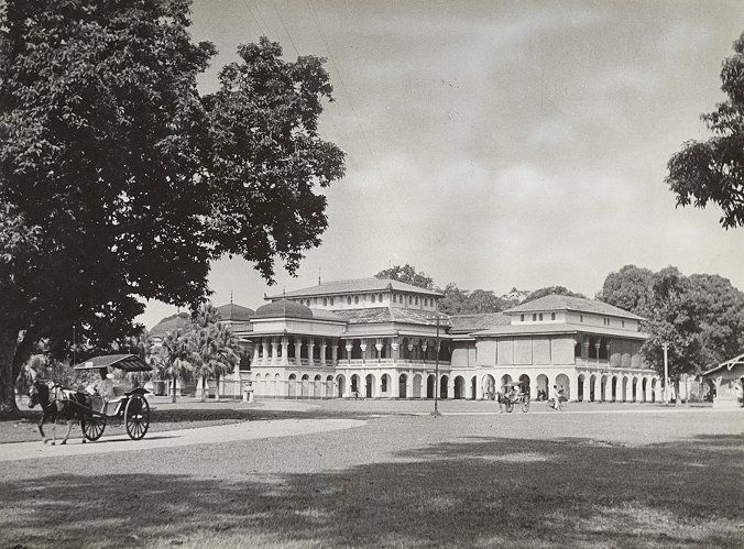 Het nieuwe Paleis van de Sultan Medan 1938-1940.