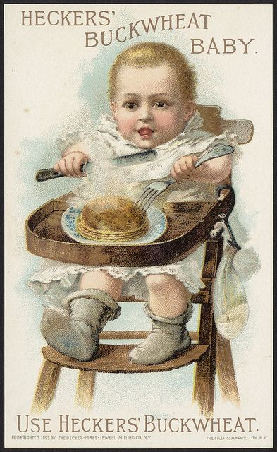 You could be this infant, who thinks pancakes are love. | 15 Children Of The 1800s Having A Way Worse Day Than You