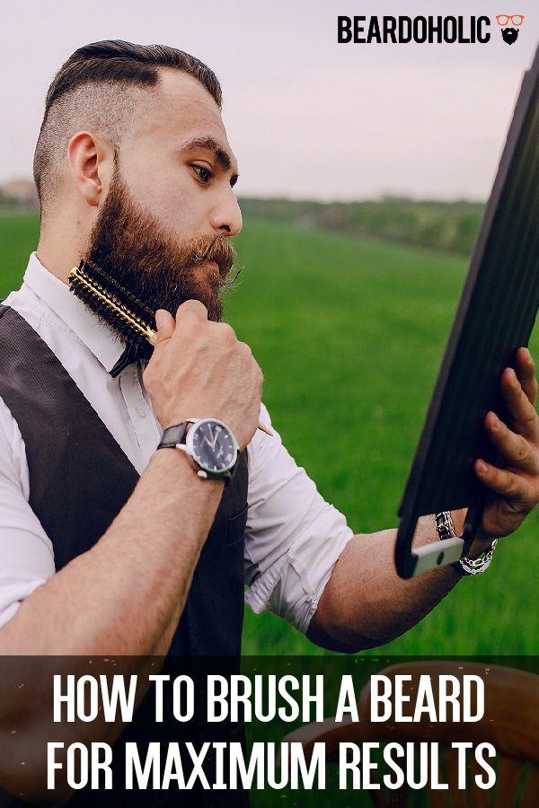 How To Brush a Beard For Maximum Results From beardoholic.com