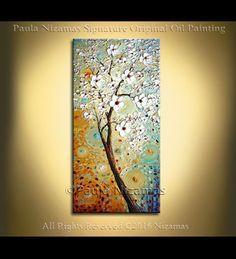 Árbol grande del arte de la pared pintura paisaje por Artcoast