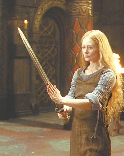 Eowyn. From lord of the rings: Old Age, The Lord, Bassoon, Eowyn, Movie Character, Swords, Rings, Celtic Knot, Middle Earth