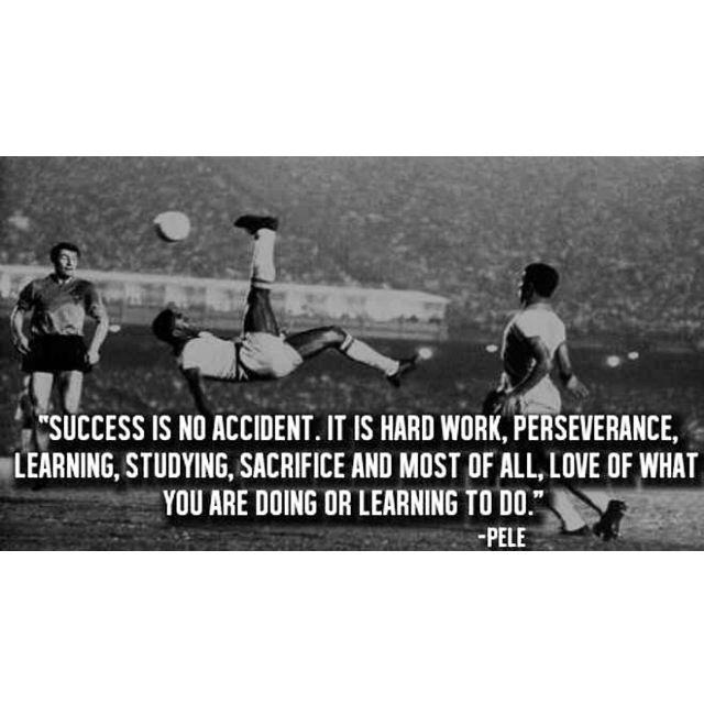 Pele soccer quote. | Soccer | Pinterest