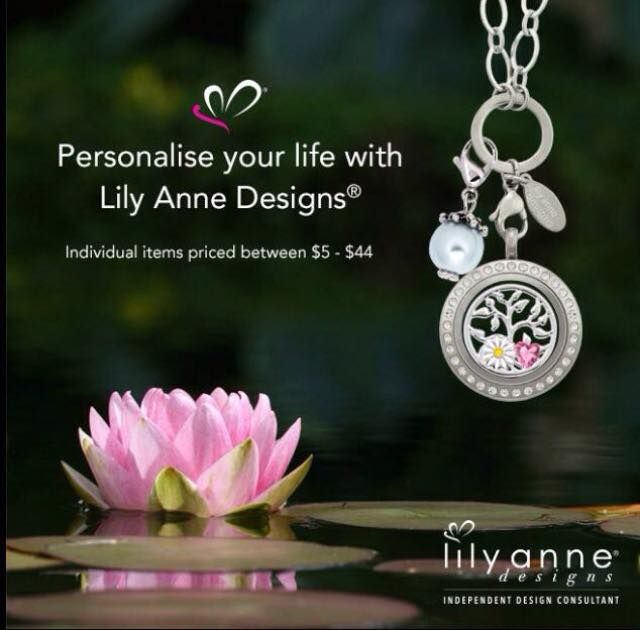 Personalise your life with Lily Anne Designs! Individual items priced between $5 - $44 #lilyannedesigns #personalised #jewellery #lockets #chains #charms