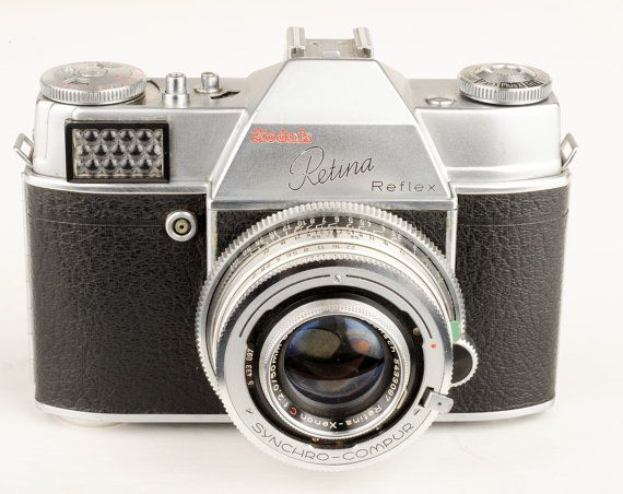 Kodak Retina Reflex Vintage 35mm Camera w Schneider by MagsandI