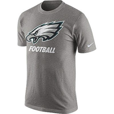 a5856928284a25 Philadelphia Eagles Facility T-Shirt - Mens - Grey  Show your team pride  every time you wear this Facility T-shirt from Nike. Featuring…