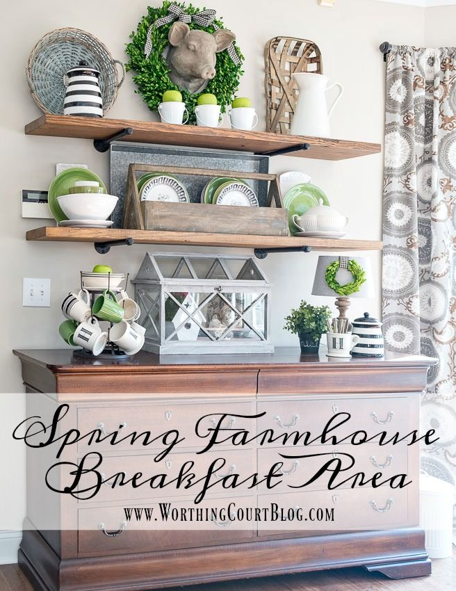 Keeping It Green - Spring Farmhouse Breakfast Area || Worthing Court