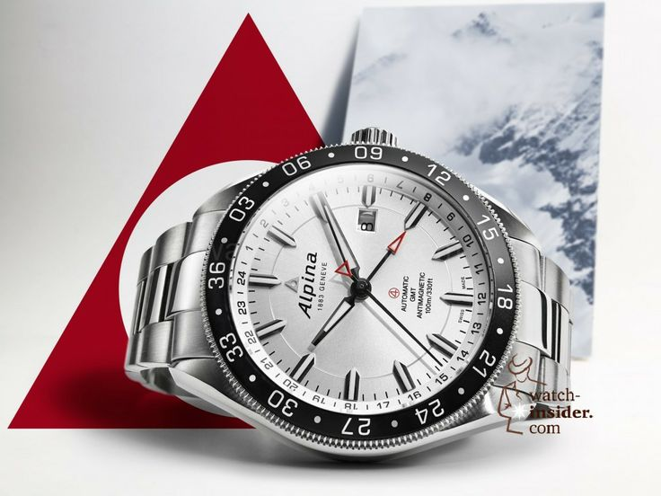The Alpina Alpiner 4 GMT/24H. Swiss professional Alpine watch with twin-timezone function,