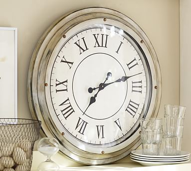 White Station Clock #potterybarn