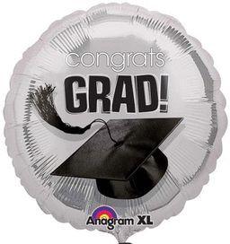 """Congratulations Degree Silver Graduation Balloon, 18 """""""