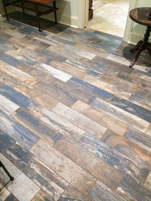 Vintage Woodlands Wood Tile Flooring LOVE THIS! for the entryway :)