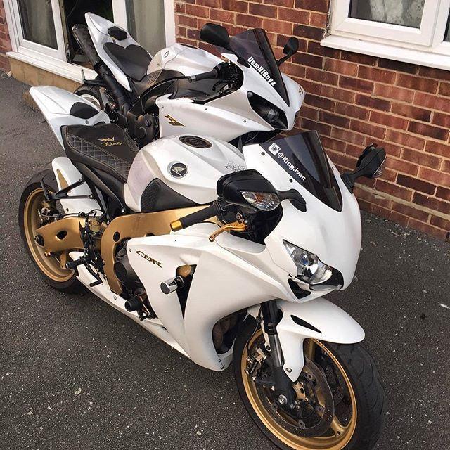 """motorcycles-and-more: """"Honda CBR 1000RR & Yamaha R1 """""""