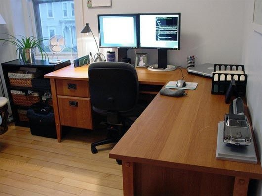 home office workstations. Interesting Home Pocket  30 Stunning Home Office Workstation Setups And Workstations D