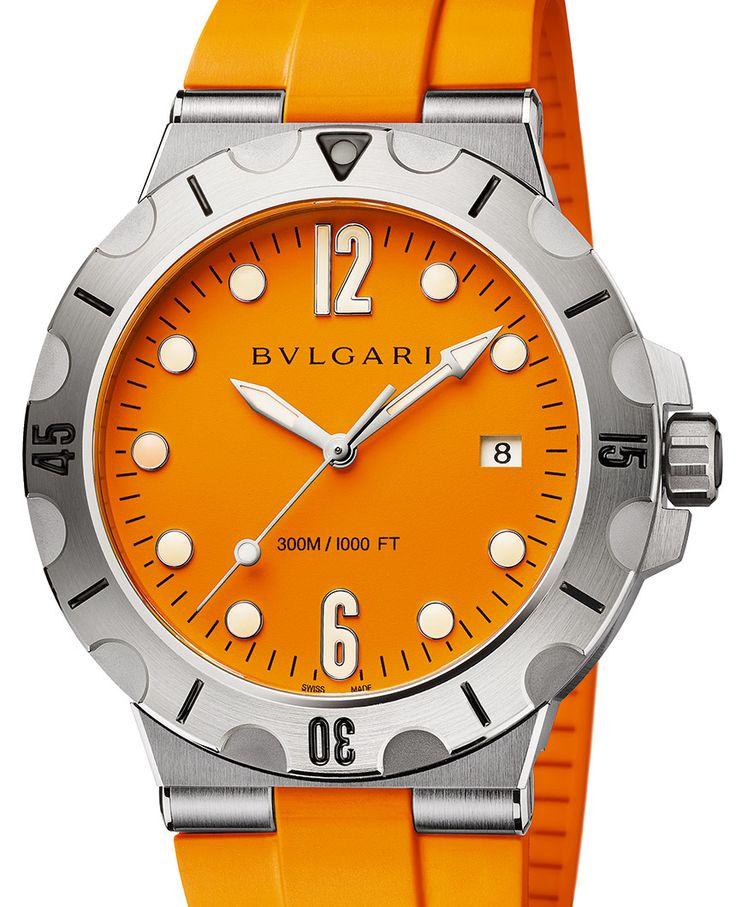 Bulgari Diagono Scuba: часы цвета солнца