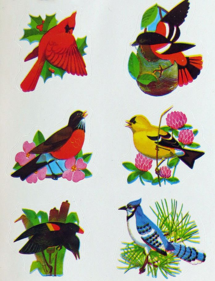 Dennison bird stickers