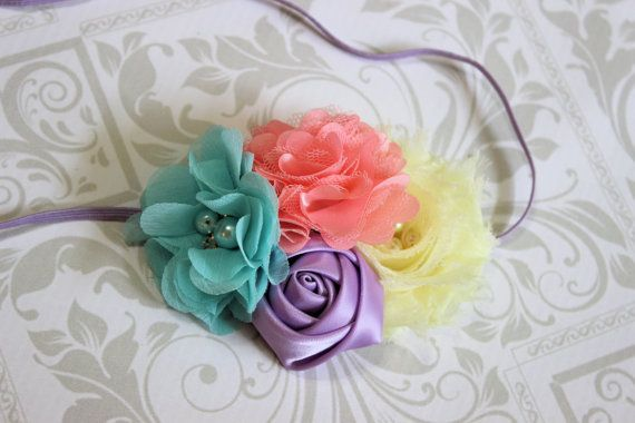 Easter Headband Spring Inspired Headband, Easter Headband, Baby Headband,Pink Headbands, Photography Prop