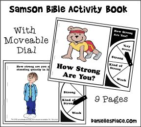 Samson Color Book and Activity for Children's Ministry from www.daniellesplace.com