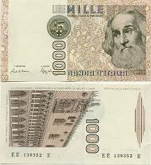 Le 1000 Lire con Marco Polo, quelle delle mie prime paghette. Quando furono sostituite dalle 1000 £ con la Montessori credo di aver pianto...