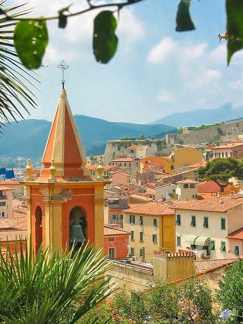 rooftops of Portoferraio, Elba Island, province of Livorno, Tuscany.